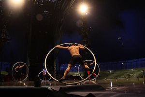 Ensayo del 'Cirque du Soleil' en Mérida