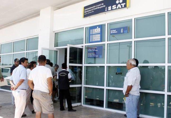 La aplicación del SAT fue presentada a finales del año pasado como una prueba piloto. (Redación/SIPSE)