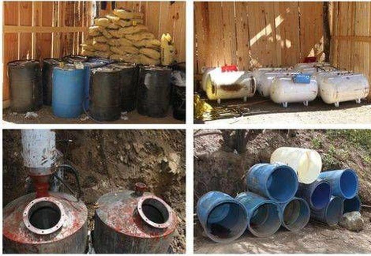 Las autoridades aseguran que este narcolaboratorio es uno de los más grandes que se hayan localizado en Jalisco. (Milenio)