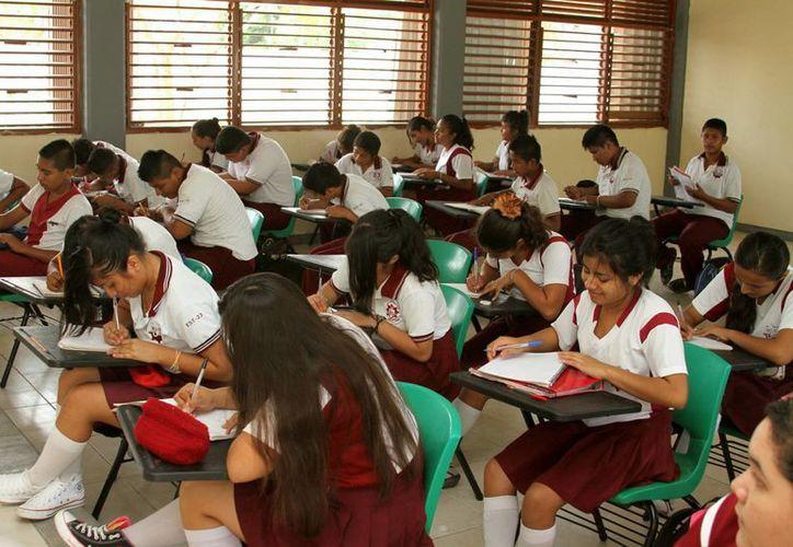 La matrícula para el próximo ciclo escolar del   nivel básico de Solidaridad será casi 4% más.  (Adrián Mornoy/SIPSE)