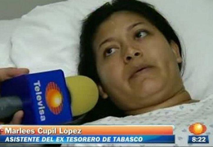 La mujer aseguró que fueron agentes federales los que la secuestraron. (Captura de pantalla)