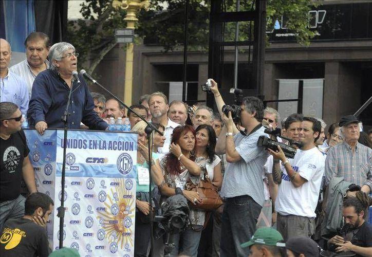 Los líderes sindicales opositores al gobierno de Cristina Fernández dicen estar cansados de las políticas económicas del gobierno. (EFE)
