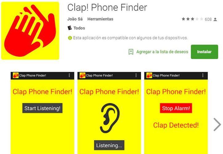 La aplicación para Android, <i>Clap Phone Finder</i>, es una herramienta gratuita que <i>nos salva la vida</i> y consiste en aplaudir para que el dispositivo perdido emita sonidos para su localización. (Google Play)