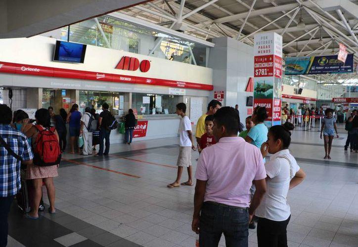 En la terminal de autobuses foráneos de Cancún se respetó la disposición de la Secretaría de Comunicaciones y Transportes (SCT).