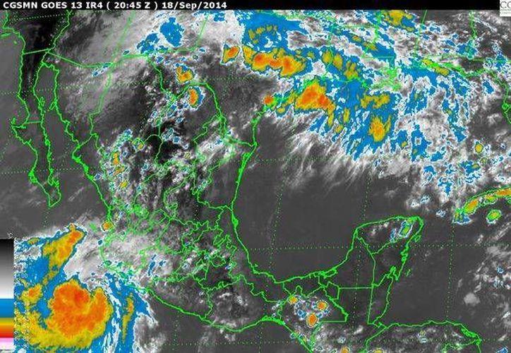 Se mantienen las alertas desde Michoacán hasta Jalisco por la influencia de la tormenta tropical 'Polo'. (smn.conagua.gob.mx)