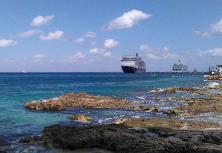 Se espera la llegada de 26 cruceros a Cozumel y 5 a Mahahual. (Gustavo Villegas/ SIPSE)
