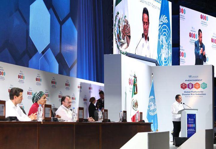 Ayer fue inaugurada por el presidente de México, Enrique Peña Nieto, la  Plataforma Global para la Reducción de Desastres Naturales. (Cortesía)