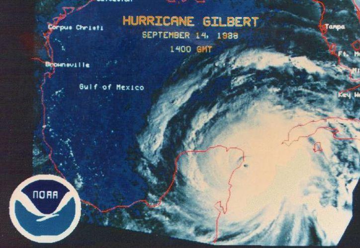 """El paso del huracán """"Gilberto"""" por el Caribe Mexicano. (Contexto/SIPSE)"""