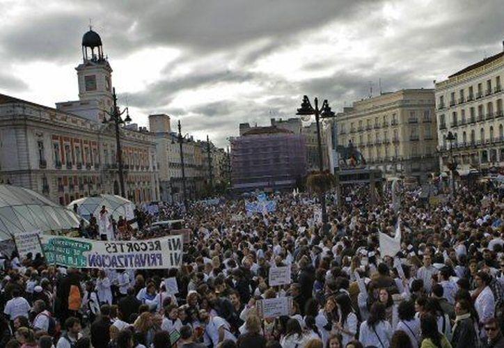 Las protestas se han vuelto un hecho cotidiano en España. (Agencias)