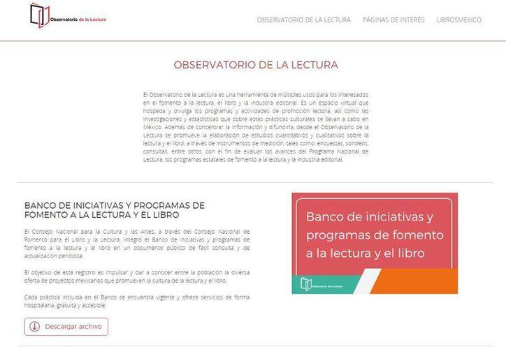 El Observatorio de la Lectura está hospedado en la página electrónica de Libros México. (observatorio.librosmexico.mx)