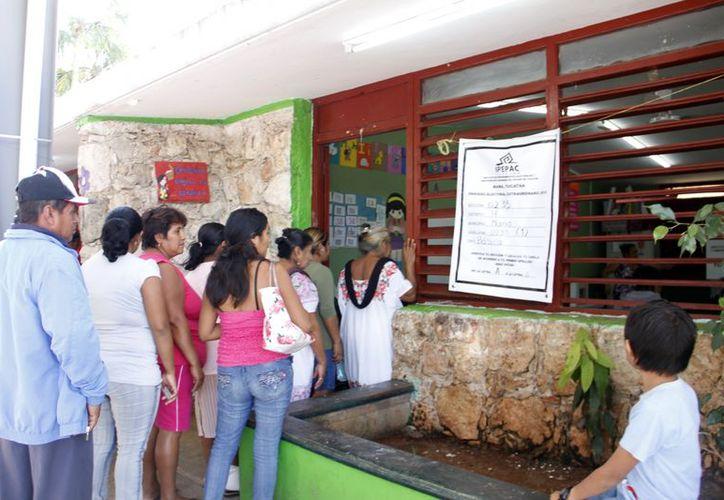 La lista nominal en el municipio es de poco más de dos mil votantes. (SIPSE)