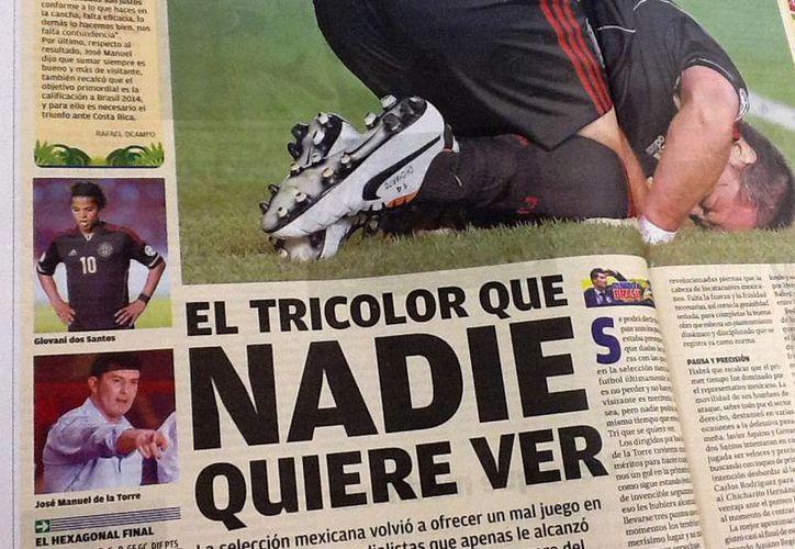 El Tricolor que nadie quiere ver, así tituló La Afición en interiores. (Foto: Especial)