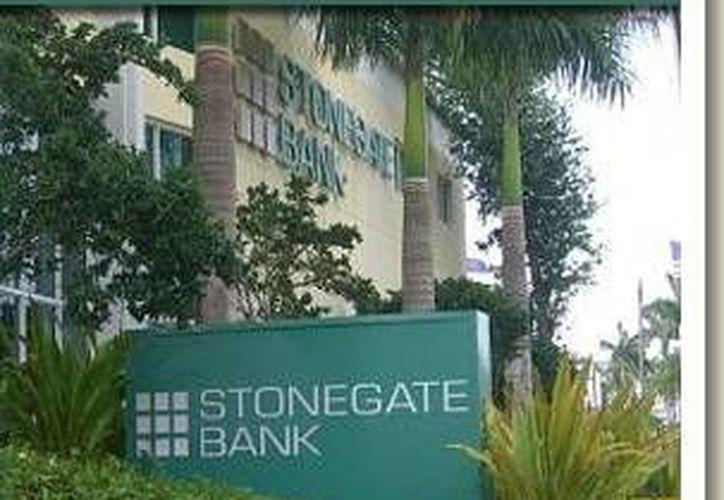Fotografía del Stonegate Bank, institución que llegó a un acuerdo con el Banco Internacional del Comercio con sede en La Habana, el primero luego del restablecimiento de las relaciones entre EU y Cuba. (Foto/ stonegatebank.com)