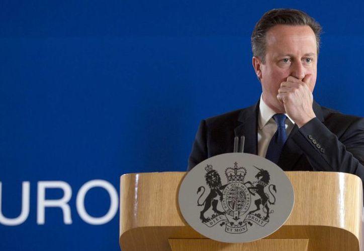 David Cameron, primer ministro del Reino Unido, encabezó el reinicio de la campaña por la permanencia del país en la Unión Europea. (AP)