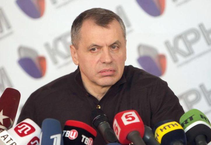 El presidente del Consejo Superior de Crimea (Parlamento regional), Vladímir Konstantinov. (Archivo/EFE)