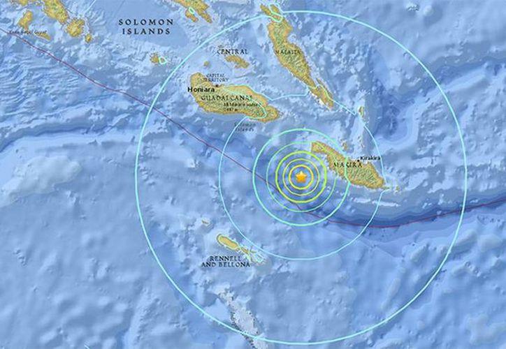El Servicio de Alerta de Tsunami de EU activó la alerta y pronosticó un oleaje superior al metro de altura. (earthquake.usgs.gov)