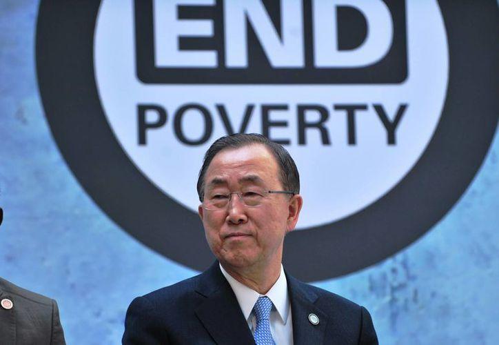 Ban Ki-moon indicó que México juega un papel primordial en el enfoque internacional sobre el tráfico de drogas. (Notimex)