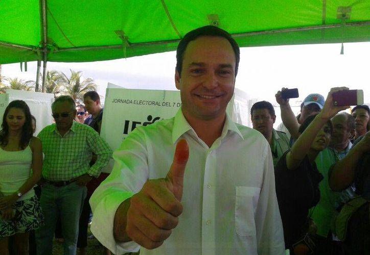 El candidato a la presidencia de Benito Juárez, Paul Carrillo de Cáceres. (Jazmin Ramos/SIPSE)