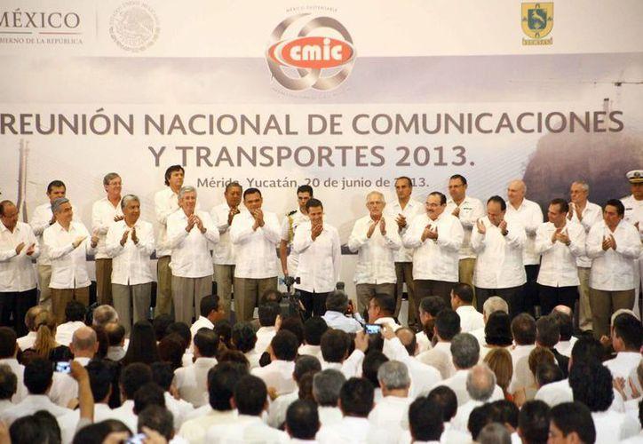 Inauguración de la Reunión Nacional de Infraestructura 2013 de la Cámara Mexicana de la Industria de la Construcción. (Redacción/SIPSE)
