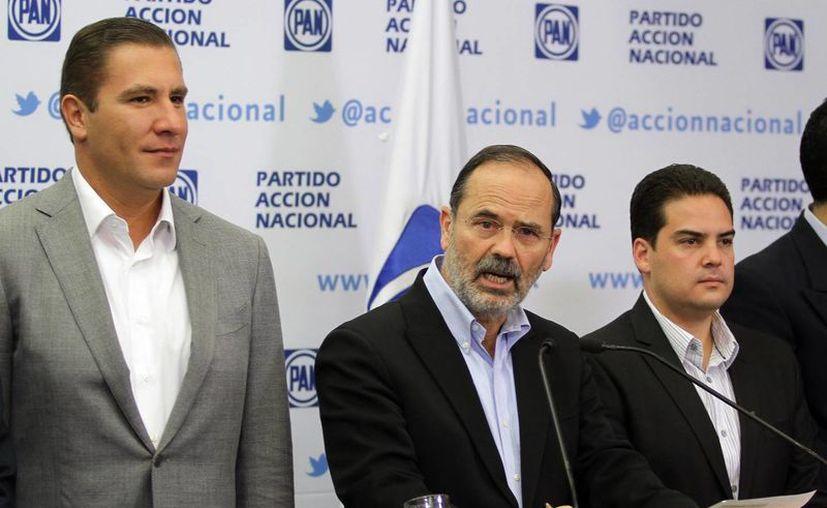 El presidente del PAN, Gustavo Madero, sugirió la reducción a casi la mitad del costo de las elecciones en el país. (Captura de pantalla)