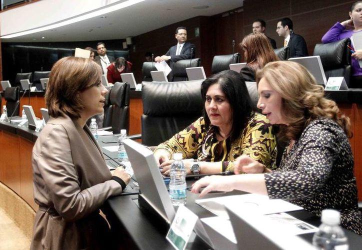 Senadora Angélica Araujo (d). (Milenio Novedades)