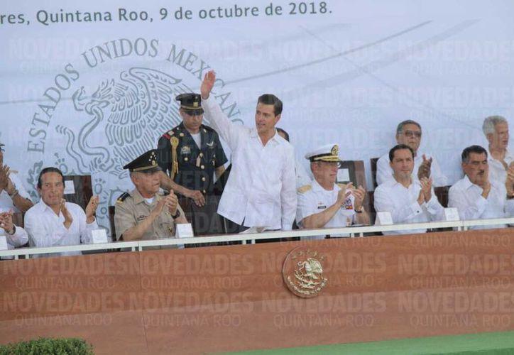 El presidente de México inauguró el campus Cancún, de la Uqroo. (Redacción)