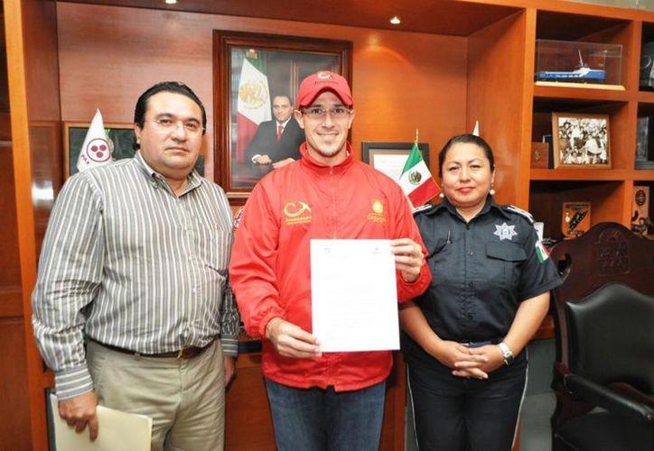 El presidente presentó una serie de proyectos encaminados a la seguridad pública de Cozumel. (Cortesía/SIPSE)