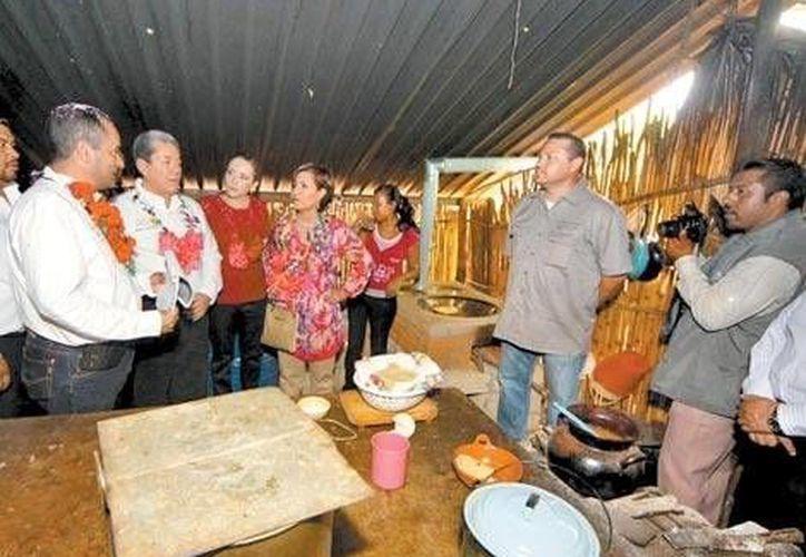 La secretaria de la Sedesol, Rosario Robles, acudió personalmente a San Gaspar, en Zumpahuacán, Edomex. (Milenio)