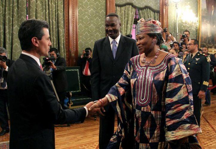 En febrero pasado, Enrique Peña Nieto recibió las Cartas Credenciales de once nuevos Embajadores en Palacio Nacional. (Archivo/Notimex)