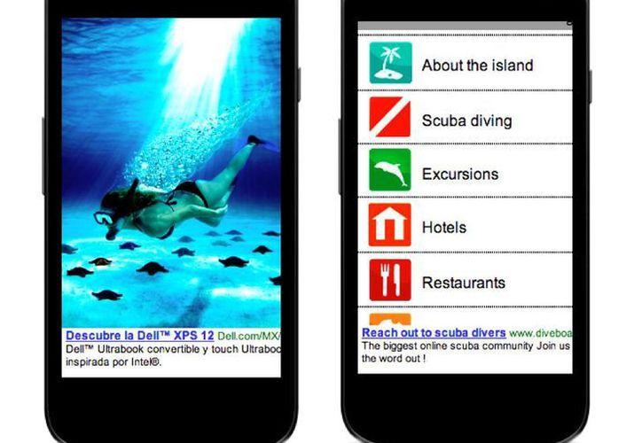 La aplicación cuenta con información turística. (Redacción/SIPSE)