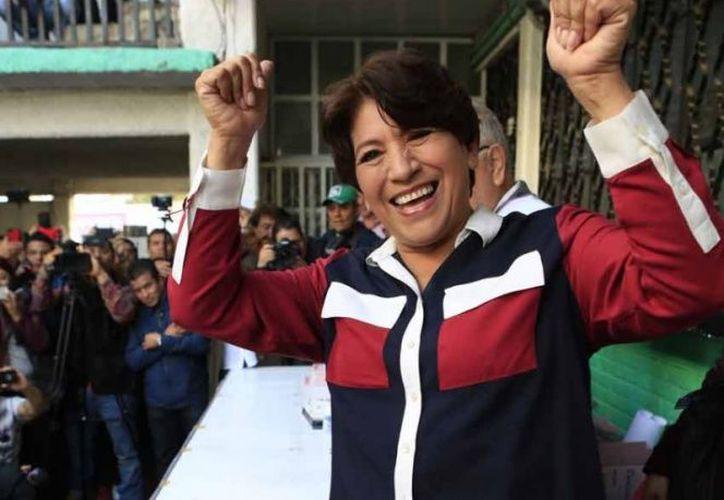 Delfina Gómez, se colocó en primer lugar en el arranque del programa del INE. (Foto: Excélsior)