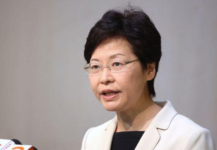 Carrie Lam se convirtió este domingo en la nueva jefa ejecutiva del territorio chino. (HongKong.com)