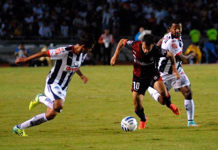 Monterrey fue superior al Atlas y lo derrotó 2-1 en el torneo Apertura 2014, de la Liga MX. (NTX)