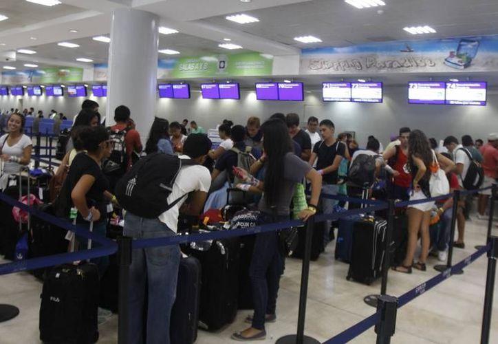 El aeropuerto registró de 8.6% en su movimiento total de pasajeros. (Foto: Contexto/SIPSE)