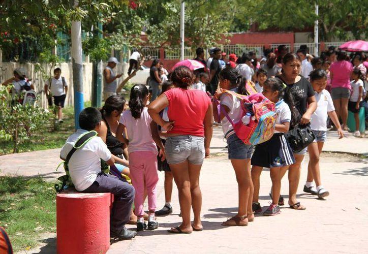 Maestros actuaron de buena fe al repartir a los alumnos y padres de familia las solicitudes de becas. (Tomás Álvarez/SIPSE)
