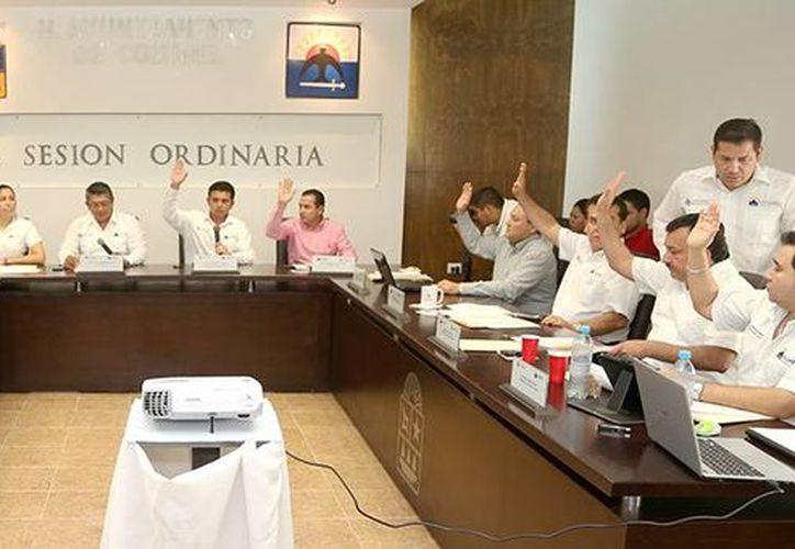 La Ley de Hacienda de Cozumel, fue aprobada  durante la Vigésima Octava Sesión Ordinaria de Cabildo. (Redacción/SIPSE)