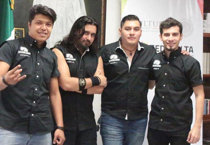 La banda rockera yucateca 'Becoming Ashes' es una de las finalistas del 'Road to Hell and Heaven'. (Milenio Novedades)