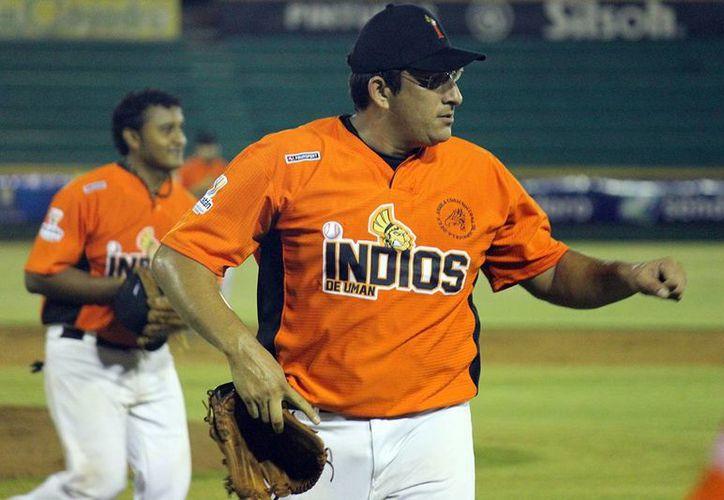 Gary Espadas, uno de los Indios de Umán que se enfrentará a Tucanes de Komchén en la final de la Liga Invernal de Beisbol. (Milenio Novedades)