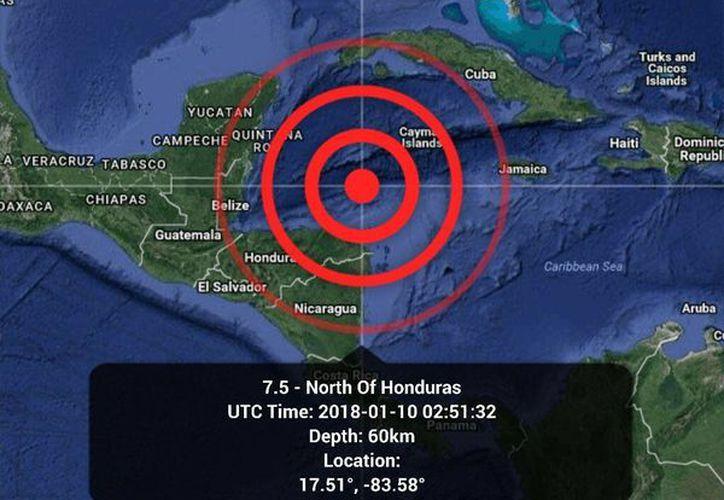 El epicentro fue en Honduras y no existe alerta de Tsunami para Quintana Roo. (SIPSE)