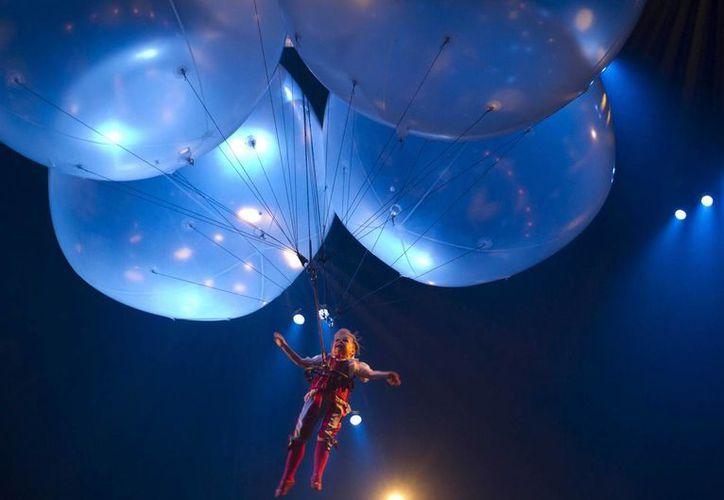 El show 'Corteo' del 'Cirque du Soleil' se presentará por primera vez en la capital mexicana a partir del 30 de julio. La foto corresponde al show que ofrecieron en días pasados en Mérida, Yucatán. (Notimex)