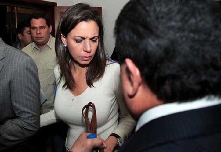 """La Asamblea Nacional de Venezuela pidió que la diputada opositora María Corina Machado sea juzgada  y enjuiciada """"por todo lo que pasa en Venezuela"""". (eluniversal.com)"""