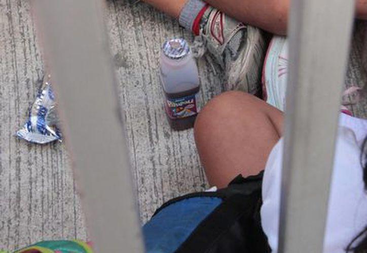 """En la escuela hay niños consumiendo comida """"chatarra"""". (Gustavo Villegas/SIPSE)"""