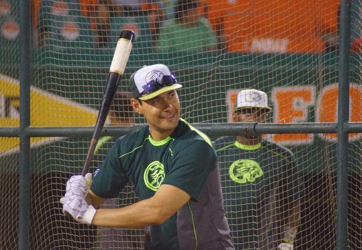 El bateador Luis Alfonso García, uno de los nuevos refuerzos de Leones de Yucatán, asegura que ya está al 90% de recuperación de una cirugía de rodilla. (SIPSE)