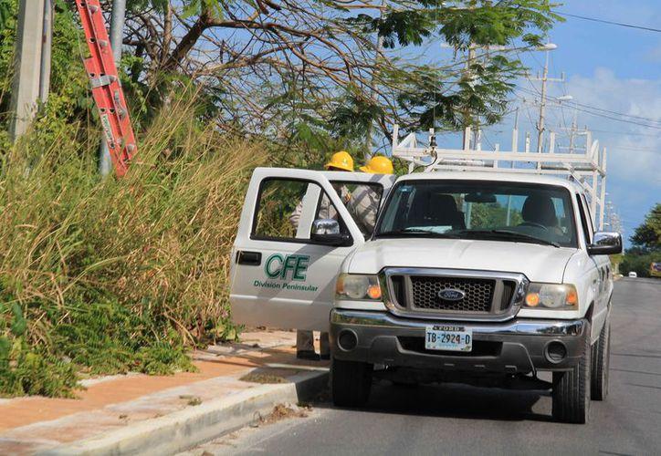 Los afectados dijeron que han efectuado el pago en tiempo y forma del consumo de electricidad a la CFE. (Luis Soto/SIPSE)
