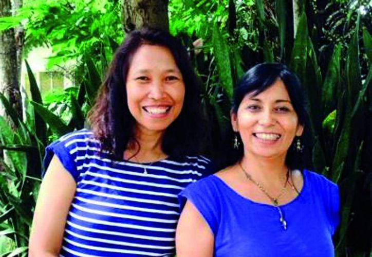 Las coordinadoras del evento Ratana Chuenpagdee y Silvia Salas. (Milenio Novedades)