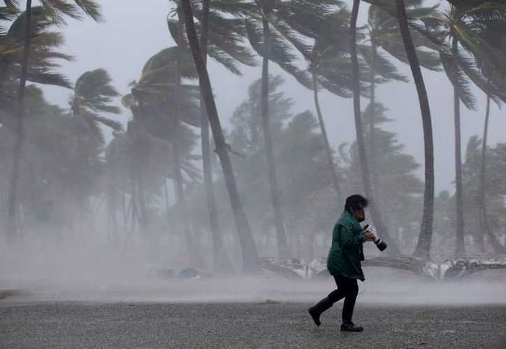 Imagen de la tormenta tropical Erika en Santo Domingo, República Dominicana. (EFE)