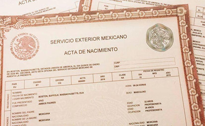 Desde agosto de 2017 es posible descargar e imprimir desde internet copias certificadas de las actas de nacimiento mexicanas. (AFmedios.com)