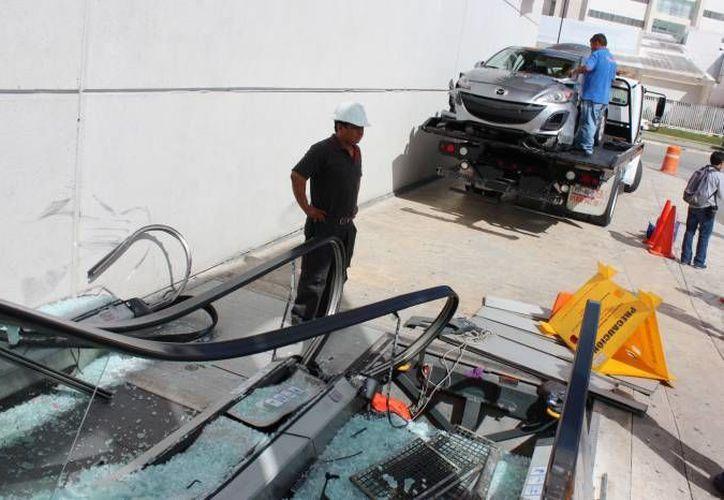 La joven responsable del costoso accidente en Plaza Altabrisa ya fue vinculada a proceso. (Milenio Novedades)