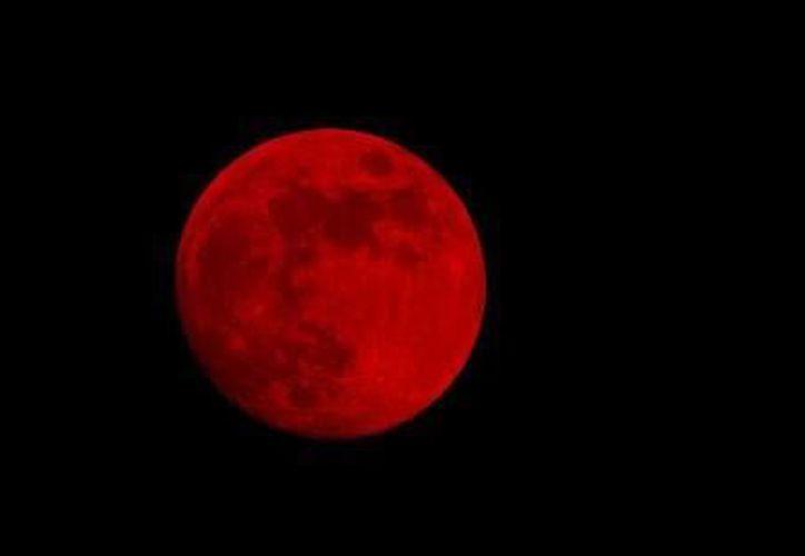 Así se vio el eclipse lunar en Cancún