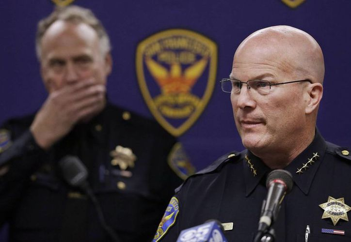 El jefe de policía de San Francisco, Greg Suhr, durante una conferencia de prensa posterior al crimen. (Agencias)